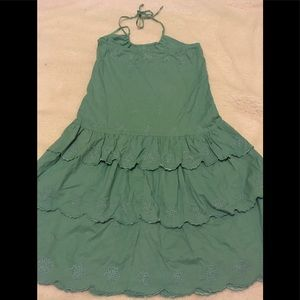 NWOT Umgee Green Halter Rhinestone  Dress
